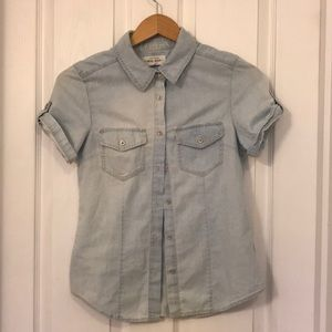 Tops - Small Chambray Button Up